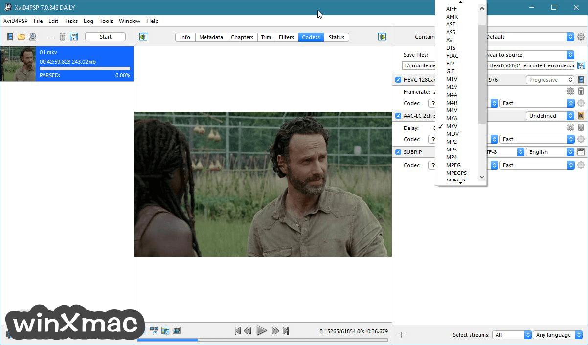 XviD4PSP (32-bit) Screenshot 1